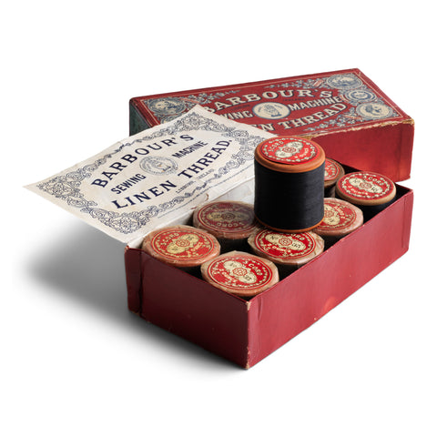 Box of Victorian Linen Thread