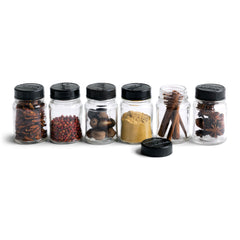 "Our glass jars have Bakelite lids, and each is moulded with the name ""Sidol"". The jars make perfect spice containers and look very pleasing when grouped together."