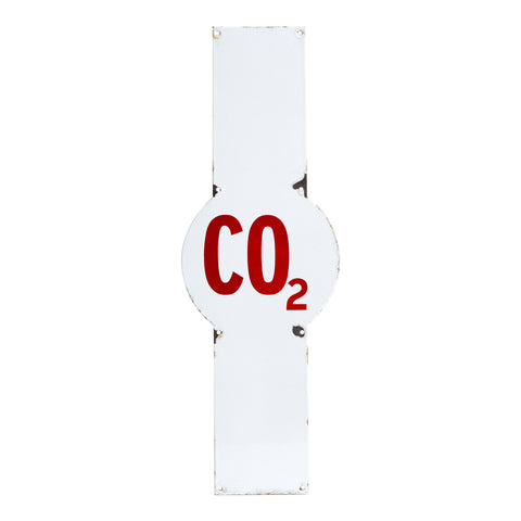 CO2 Enamel Sign