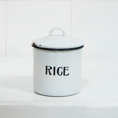 Enamel Rice Caddy