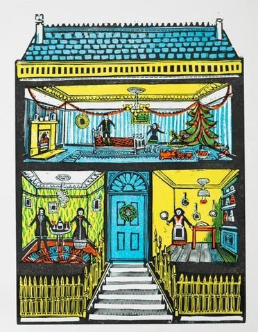 Vintage House Christmas Card