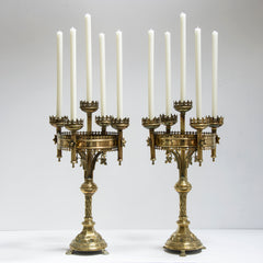 Magnificent Pair Pugin Style Candelabra