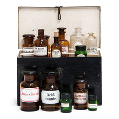 Collection of Pharmacy Bottles
