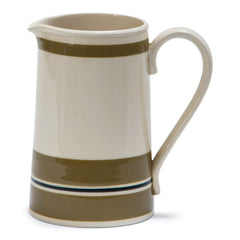 "A handsome water jug with strap handle, base stamped ""Sadler Made in Staffordshire England""."