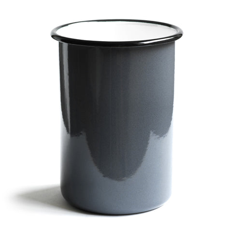 Grey enamel utensil holder