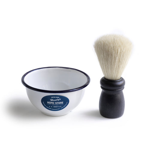 Shaving Brush & Bowl