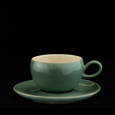 Tea cup & Saucer, loop handle