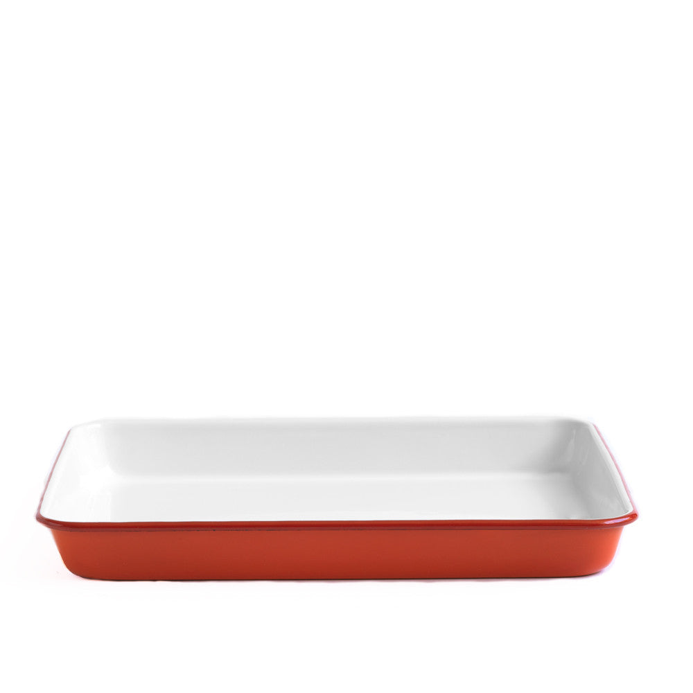 Red Enamel Tray