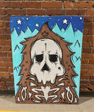 Skull Sasquatch Glow in Dark Painting