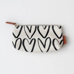 Caroline Gardner Cosmetic Hearts Bag