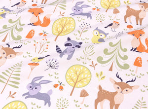 Woodland Animal Cot Sheet - Hallie & Harlow