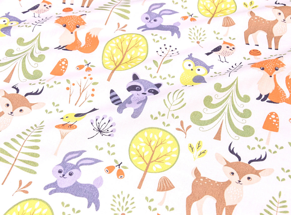 Bedside Crib Sheet Woodland - Hallie & Harlow