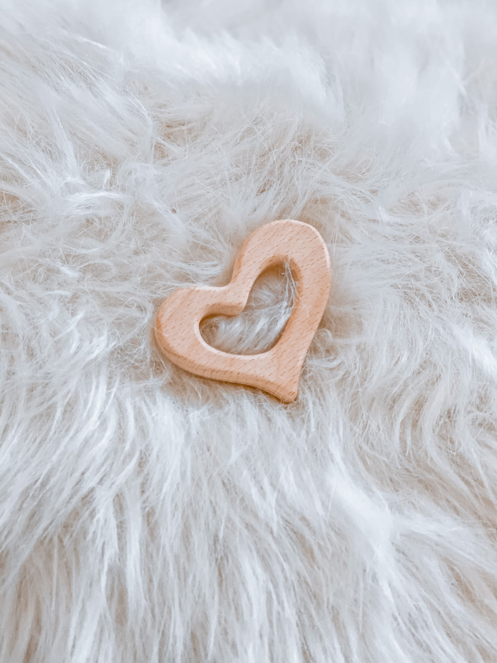 Love Heart Wooden Teether - Hallie & Harlow