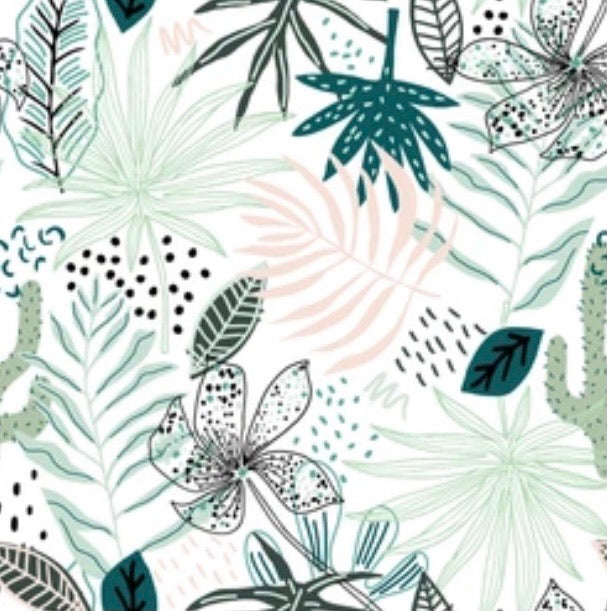 Botanical Jungle Cot Bed Sheet