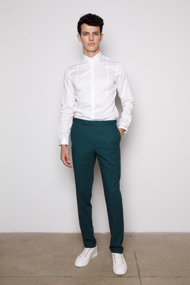 Teal Green Slim fit-Trousers