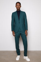 Teal Green -Single Breasted Blazer- 0ne Button Fasten