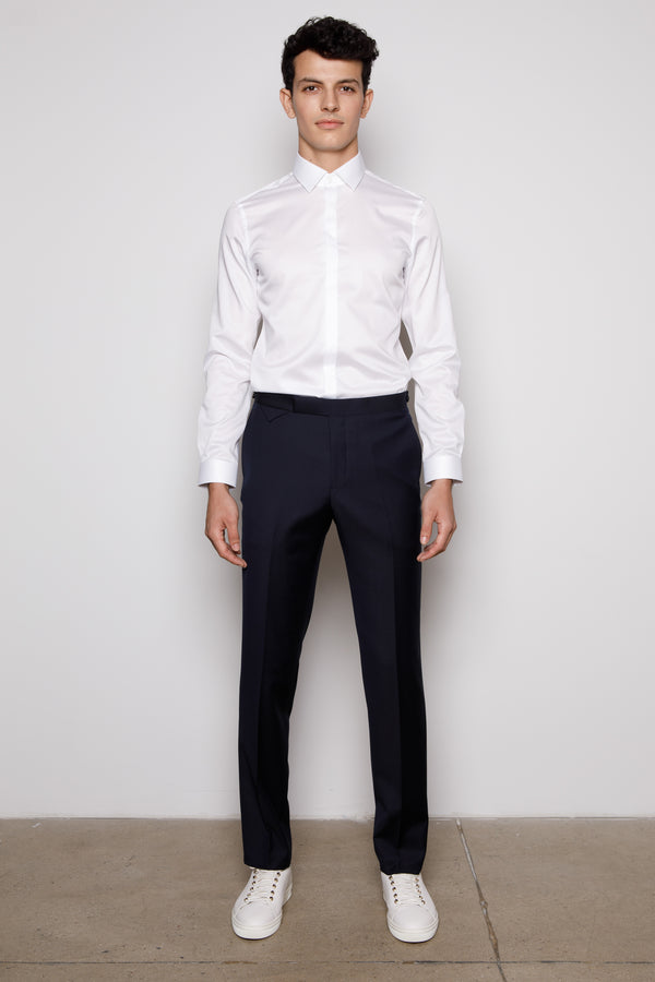 Navy Blue -Slim-Fit- Trousers
