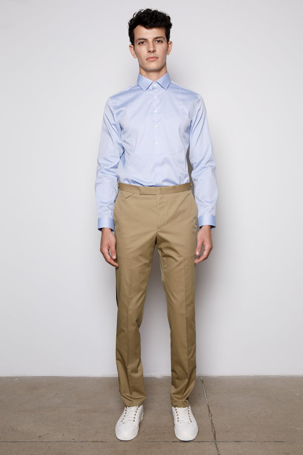 Tan Slim fit-casual -cotton twill Trousers