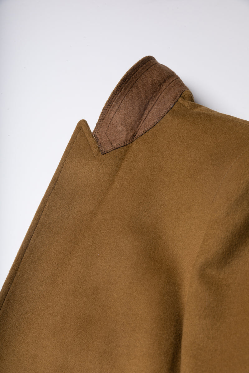 Camel Single Breasted One Button Long Coat