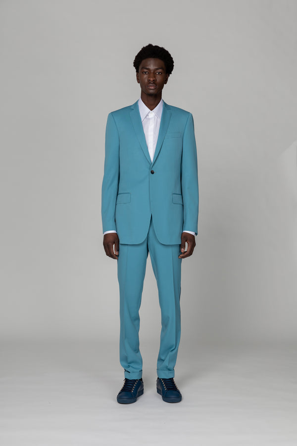 SKY BLUE - SINGLE BREASTED BLAZER -ONE BUTTON FASTEN