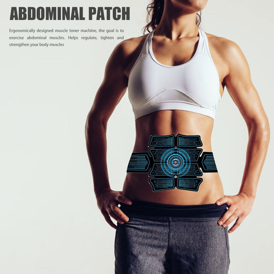 Abdominal Muscle Stimulator Trainer with USB Rechargeable port and  Smart Electric Weight Loss Stickers