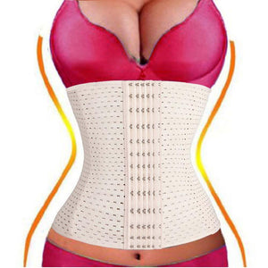 6 Rows Hook Waist Cincher Air Hole Breathable Body Shapewear Belt Corset Cincher Trainer Girdle.