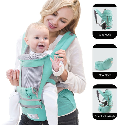 Baby Carrier Infant Kid Baby Hipseat Sling Front Facing Kangaroo Baby Wrap Carrier for Baby Travel (0-36 Months)