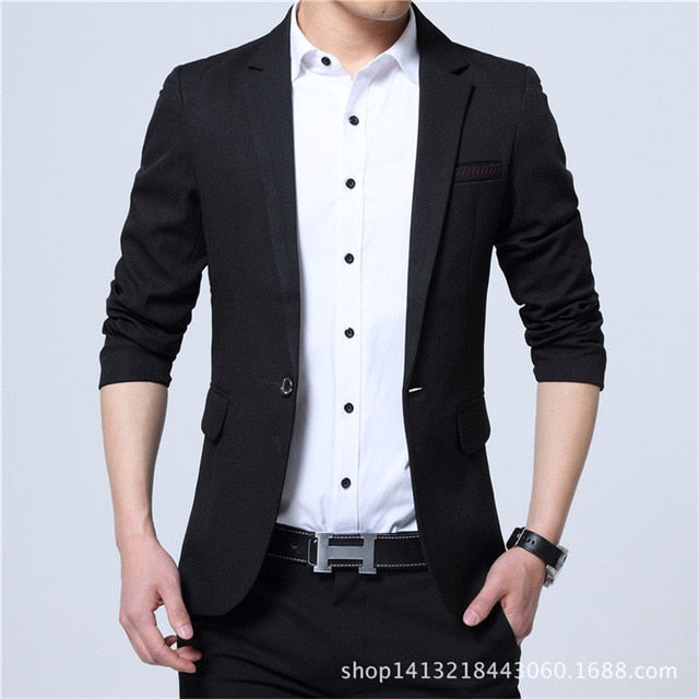 Men Spring & Autumn Blazer (Slim-Fit)