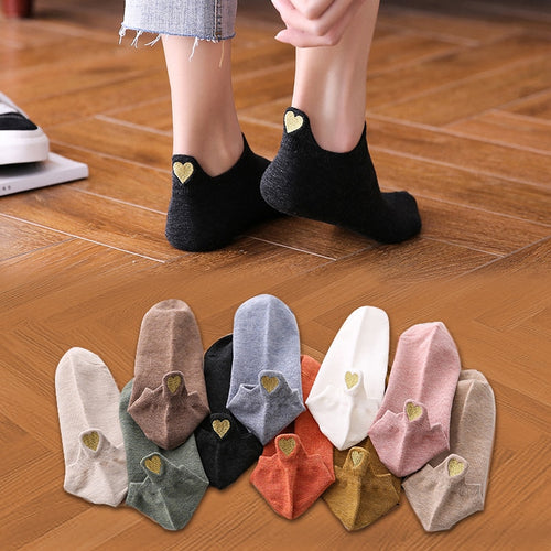 Women Cotton Ankle Socks (4 pairs)