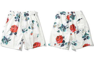 Flowers Printed Summer Men Shorts