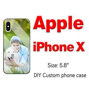 Custom Personalized Phone Case Tempered Glass For iPhone 6 7 8Plus X 11 12 Pro XS