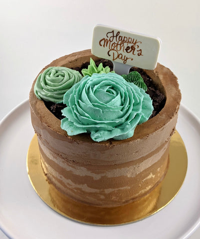 Gluten-free succulent custom cake mother's day