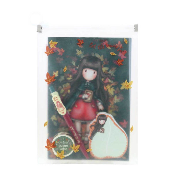 GORJUSS AUTUMN LEAVES - STATIONERY GIFT SET - 5 PIECES !  NEW FROM SANTORO of LONDON