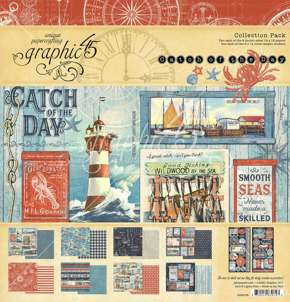 CATCH OF THE DAY  by GRAPHIC 45 - 12X12 COLLECTION - New !!