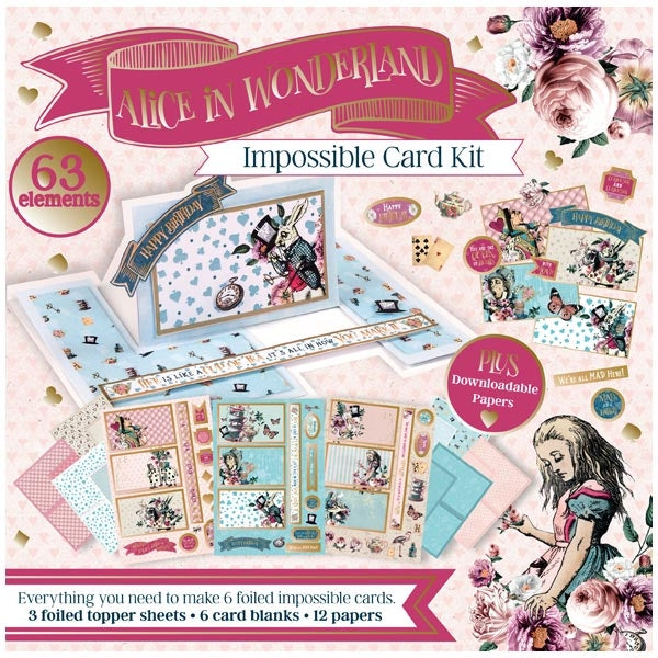 ALICE IN WONDERLAND - IMPOSSIBLE CARD KIT - NEW !!