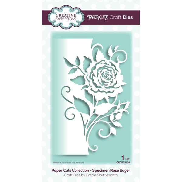 SINGLE ROSE EDGER Die -  New from  CREATIVE EXPRESSIONS !!