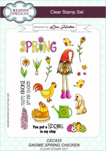 GNOME SPRING CHICKEN STAMPs Set  by Lisa Horton  for Creative Expressions - Hard to find !