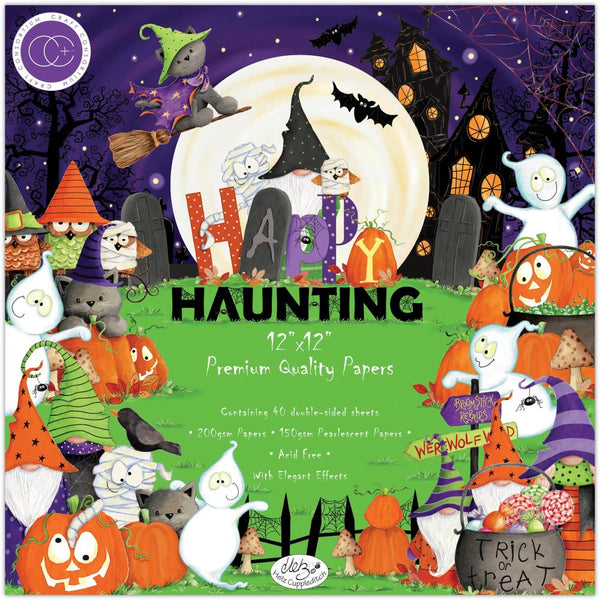 HAPPY HAUNTING by CRAFT CONSoRTIUM ~  12x12 PAPER Collection   Imported ! -  All New !! Colorful !! Fun !!
