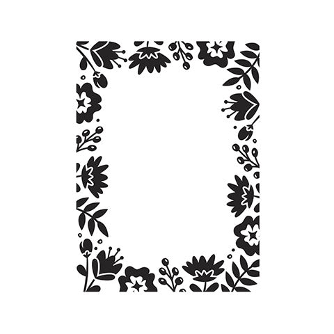 FLORAL BORDER - NEW by DARICE -  A2 EMBOSSING FOLDER -  30094081