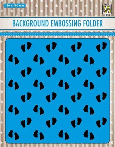 "BABY FEET EMBOSSING FOLDER by Nellie's Choice - Background Embossing ! -  5.75""x5.75"""