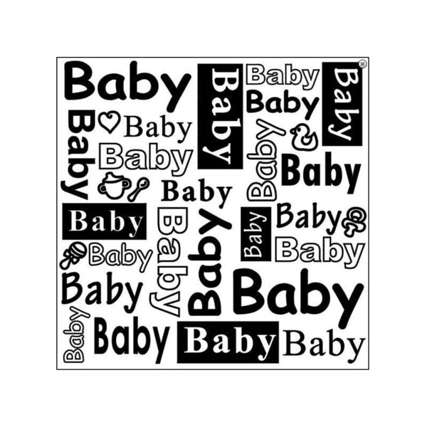 "BABY WORDS ENGLISH TEXT -  Nellie's Choice  - RETIRED DESIGN - Nellie Snellen EmBOSSING FoLDER-  5.75""x5.75"""
