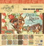 OFF TO THE RACES by GRAPHIC 45 - PAPER PAD 12X12