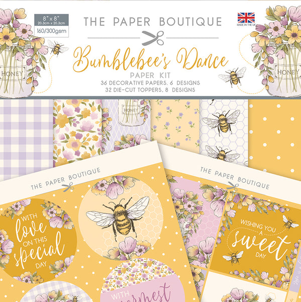 BUMBLEBEE'S DANCE - 8X8 PAPER KIT #  1476 by  The PAPER BOUTIQUE