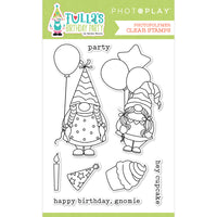 TULLA'S  BIRTHDAY DIE SET  by PHOTOPLAY - GNOMES BIRTHDAY PARTY ~