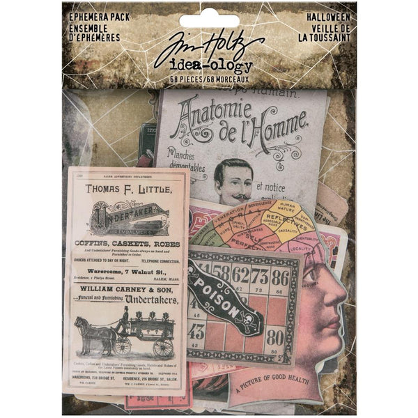 HALLOWEEN EPHEMERA PACK 2020  - 68 PIECES - TIM HOLTZ  # 94055