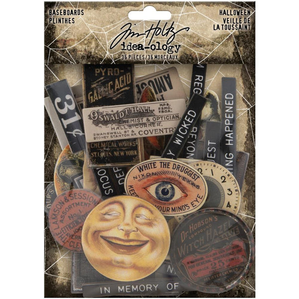 TIM HOLTZ HALLOWEEN BASEBOARDS -Chipboard Baseboards 36/Pkg by Tim Holtz - Advantus Product  TH94060
