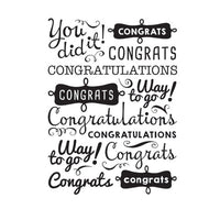 "CONGRATULATIONS ""YOU DID IT""  COLLAGE - EMBOSSING FOLDeR by Darice - A2 - GRADUATIONs ,CELEBRATIONs,  New Job, PROMOTIONs etc"