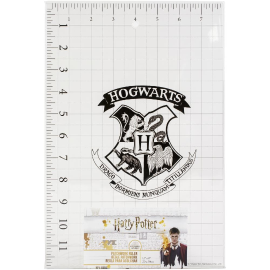 "HARRY POTTER - QUILT RULER - HOGWARTS DESIGN - from Camelot Notions ! 12"" x 8 """
