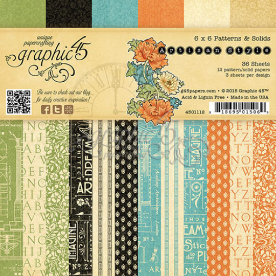 ARTISAN STYLE by GRAPHIC 45 -6x6 PAPER PAD ONLY