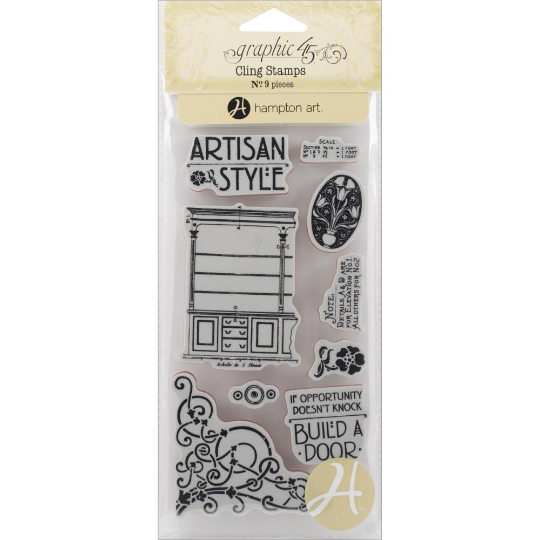 ARTISAN STYLE by GRAPHIC 45 - STAMP SET -  LAST ONE !!